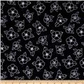 Canvas Space Linear Floral Black