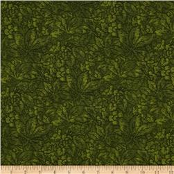 Jinny Beyer Palette Embossed Leaf Dark Green Fabric