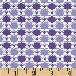 Downtown Dots & Plaids Purple Fabric
