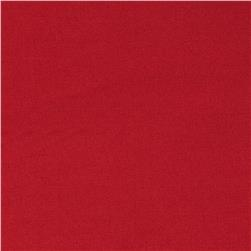 Stretch Cotton Blend Satin Deep Red