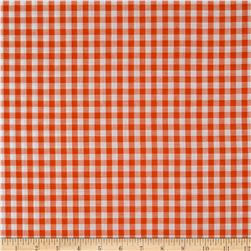 Woven 1/4'' Gingham Orange Fabric