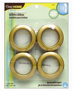 Curtain Grommets 8 Pack Brass