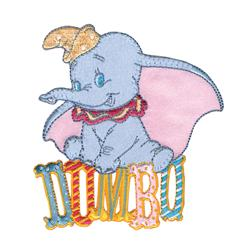 Disney Dumbo Iron On Applique Dumbo Sitting On