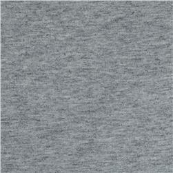 French Terry Knit Solid Light Heather Grey