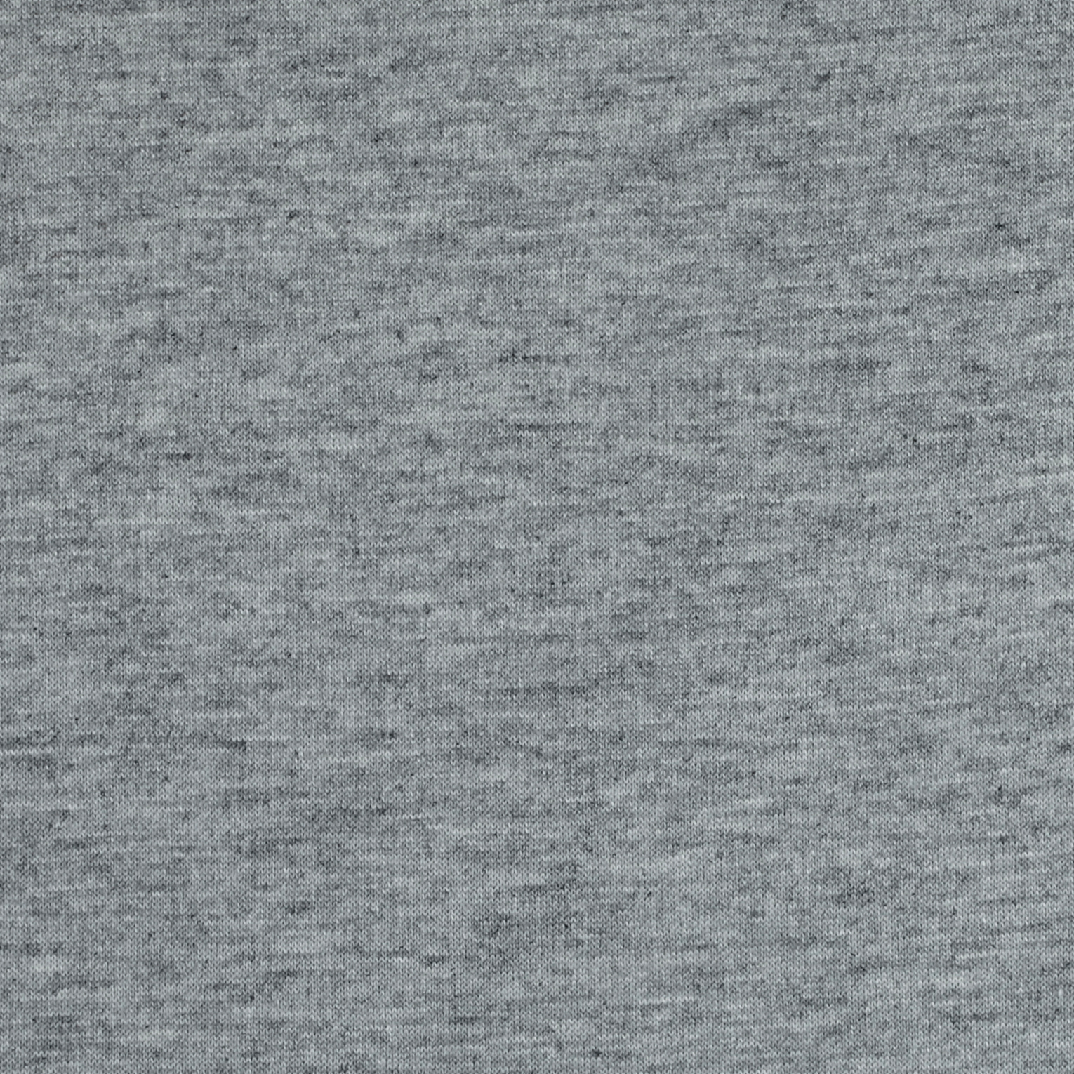French Terry Knit Solid Light Heather Grey Fabric by Neiman in USA