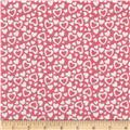 Riley Blake Holiday Banners Hearts Pink