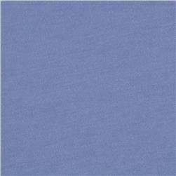 Stretch Rayon Poly Jersey Knit Solid Lake Blue