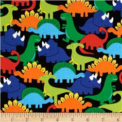 Michael Miller Retro Dino-Mites Primary Fabric