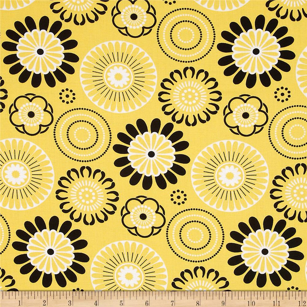 Mellow Yellow Large Circles Yellow/Black