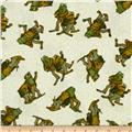 Frog and Toad Together Flannel Tossed Friends Cream