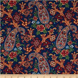 Charleston 1850 Floral Paisley Blue
