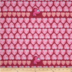 Tina Givens Feather Flock Heart Candy Fuchsia