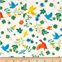 Seven Islands Birds & Butterflies White
