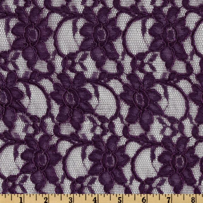 Xanna Floral Lace Fabric Dark Purple