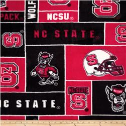 Collegiate Fleece North Carolina State University Red Fabric