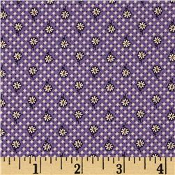 Aunt Grace Simpler Sampler Cream Flower on  Purple