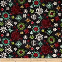 Holly Jolly Medallion Black