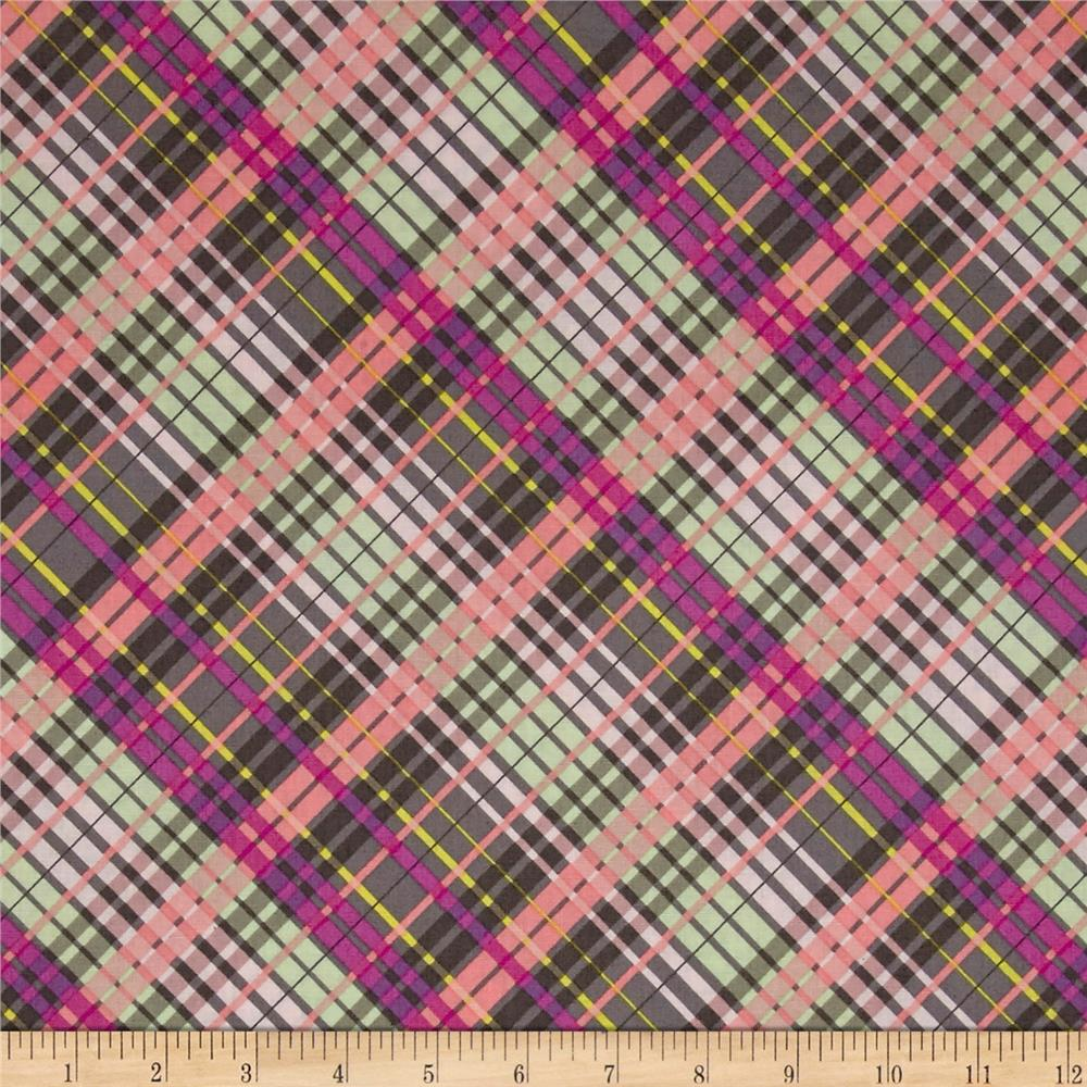 My Gray or the Highway Colorful Plaid