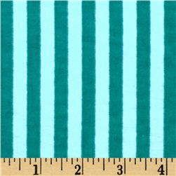 Aunt Polly's Flannel Stripe Aqua/Teal