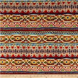 Rayon Spandex Knit Tribal Multi
