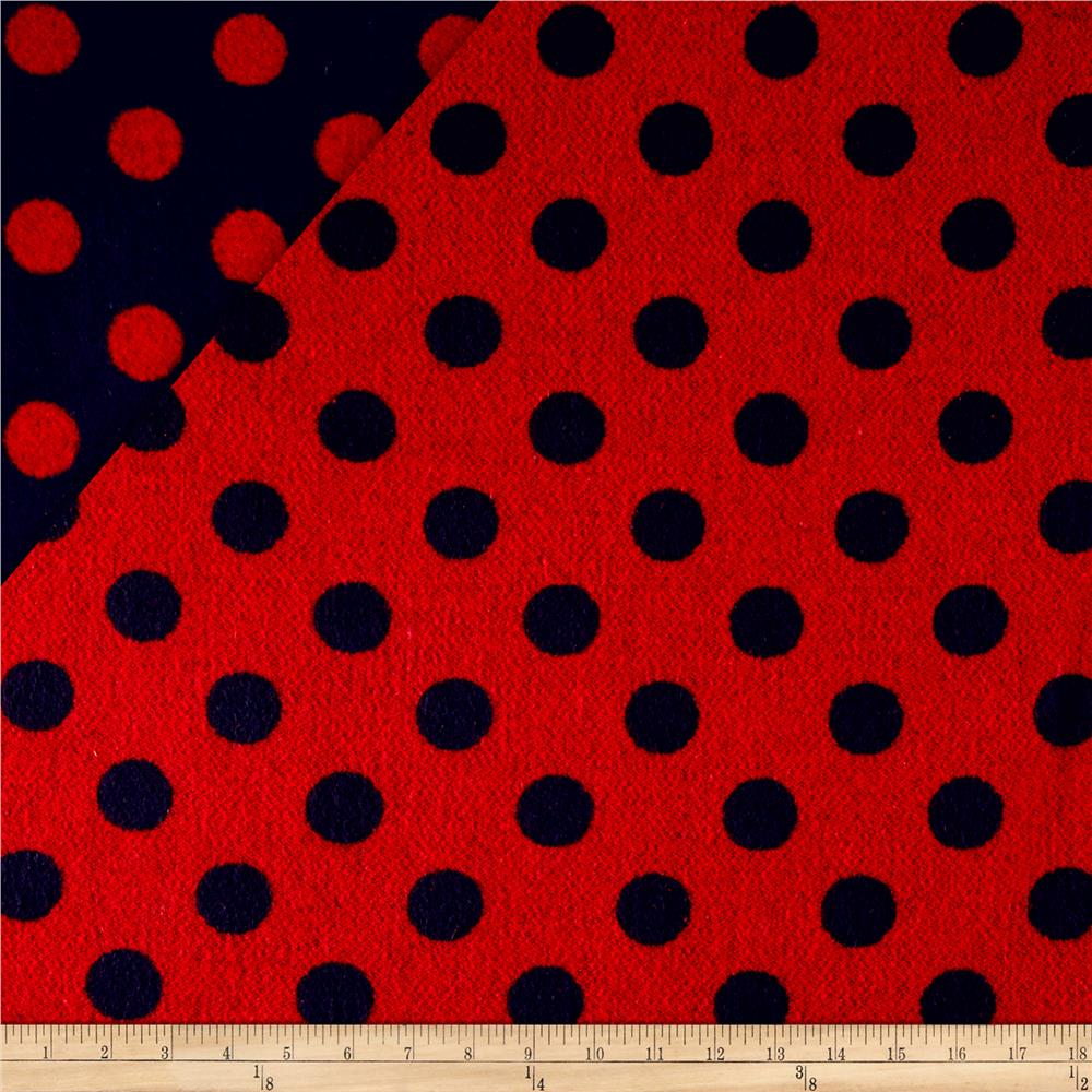 Telio Wool Polka Dot Navy/Red