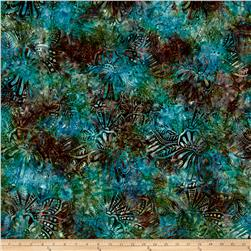 Wilmington Batiks Large Floral Teal/Multi