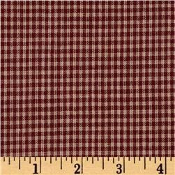 Homespun Basics 1/8'' Check Red/Natural Fabric