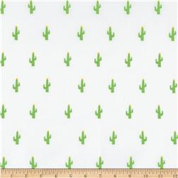 Kaufman Sevenberry Mini Prints Cactus White