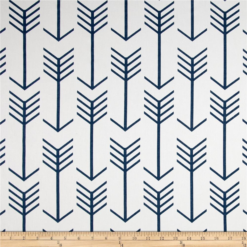 Premier Prints Arrow Twill White/Premier Navy