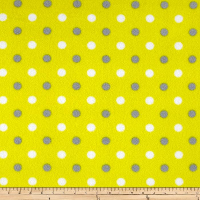 Simply Simply Dot Fleece Yellow/Gray