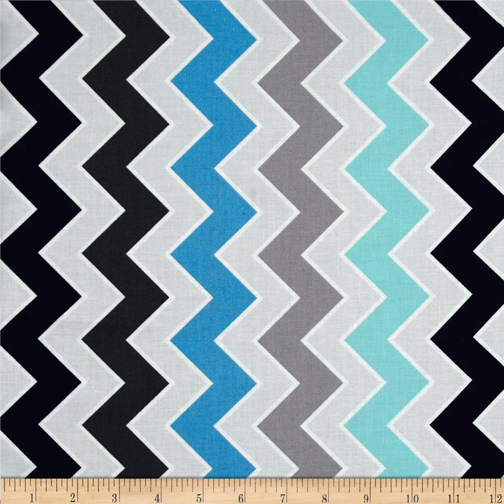 Riley Blake Medium Shaded Chevron Serene
