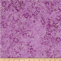 Modern Scrapbook Batik Graphic Floral Wildberry