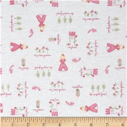 Cotton Blend Rib Knit Princess Pink