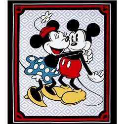Disney Mickey and Minnie Vintage 36'' Panel Black