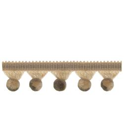 "French General 1.5"" Auvillar Ball Fringe Hemp"