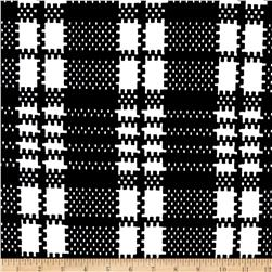 Plaid Double Knit Print Ivory/Black