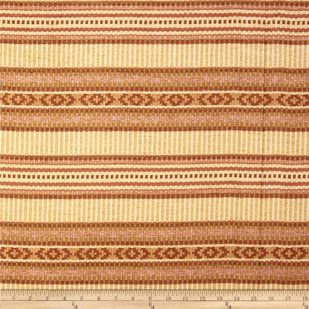 Robert Allen Promo Scroll Stripe Chenille Desert Tan