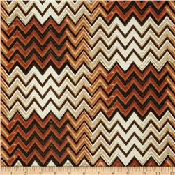 Silky Hatchi Knit Chevron Brown/Copper