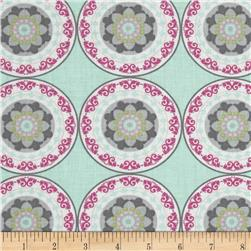 Silk Road Decorative Circles Mint/Multi