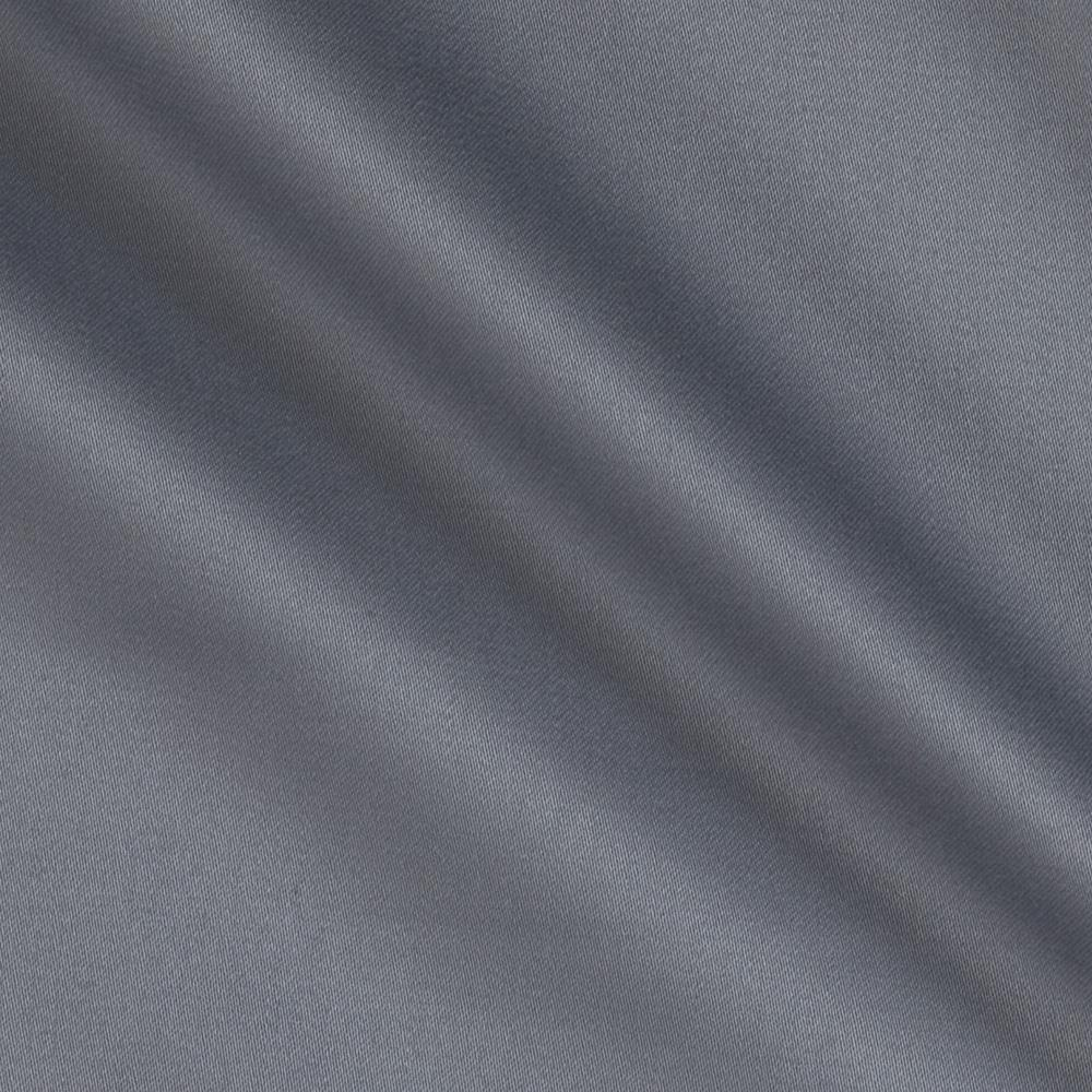 Stretch Cotton Sateen Solid Grey