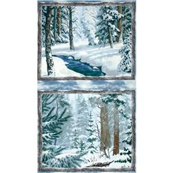 Whispering Winter Double Panel Blue