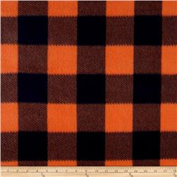 Fleece Buffalo Plaid Print Navy/Orange