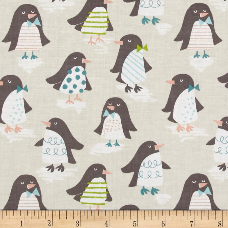 Blend Snow Day Penguin Parade Taupe