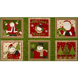 Ho Ho Holiday Pillow Panel Multi