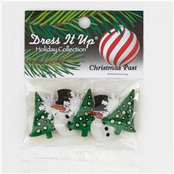 Dress It Up Embellisment Buttons  Christmas Past