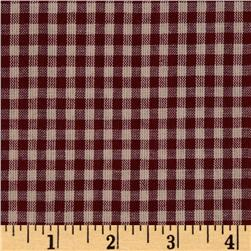 Homespun Basics 1/4'' Check Red/Natural