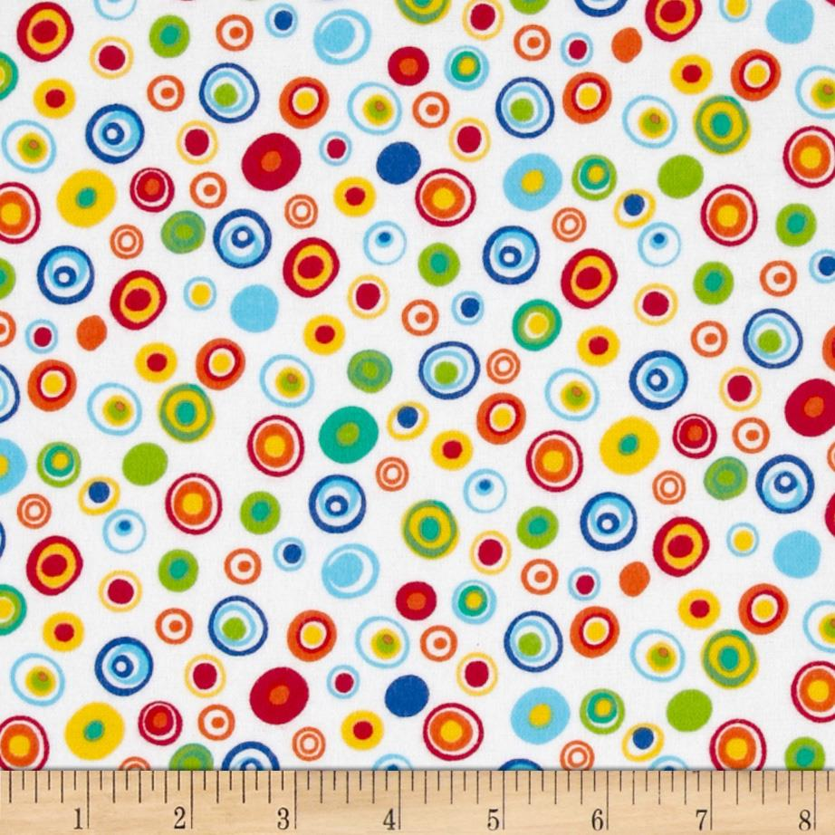Jamboree Flannel Bright Circles
