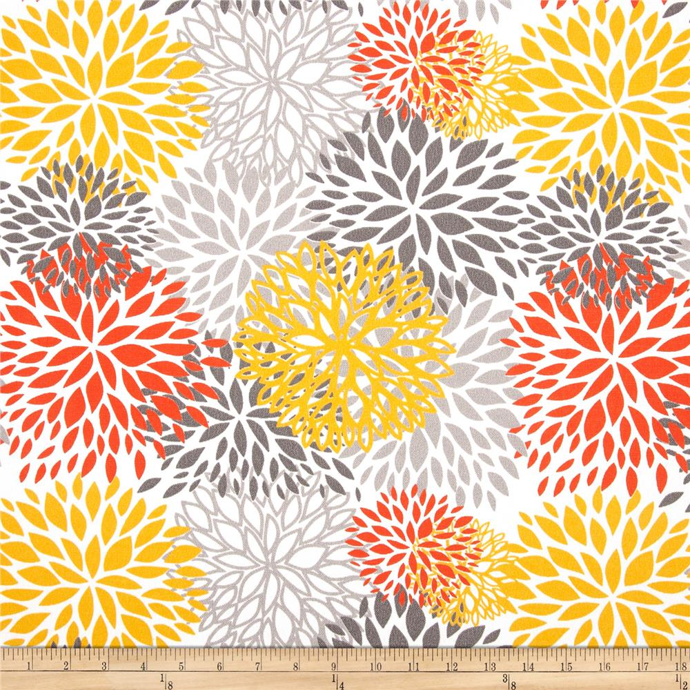 Premier Prints Indoor/Outdoor Blooms Citrus