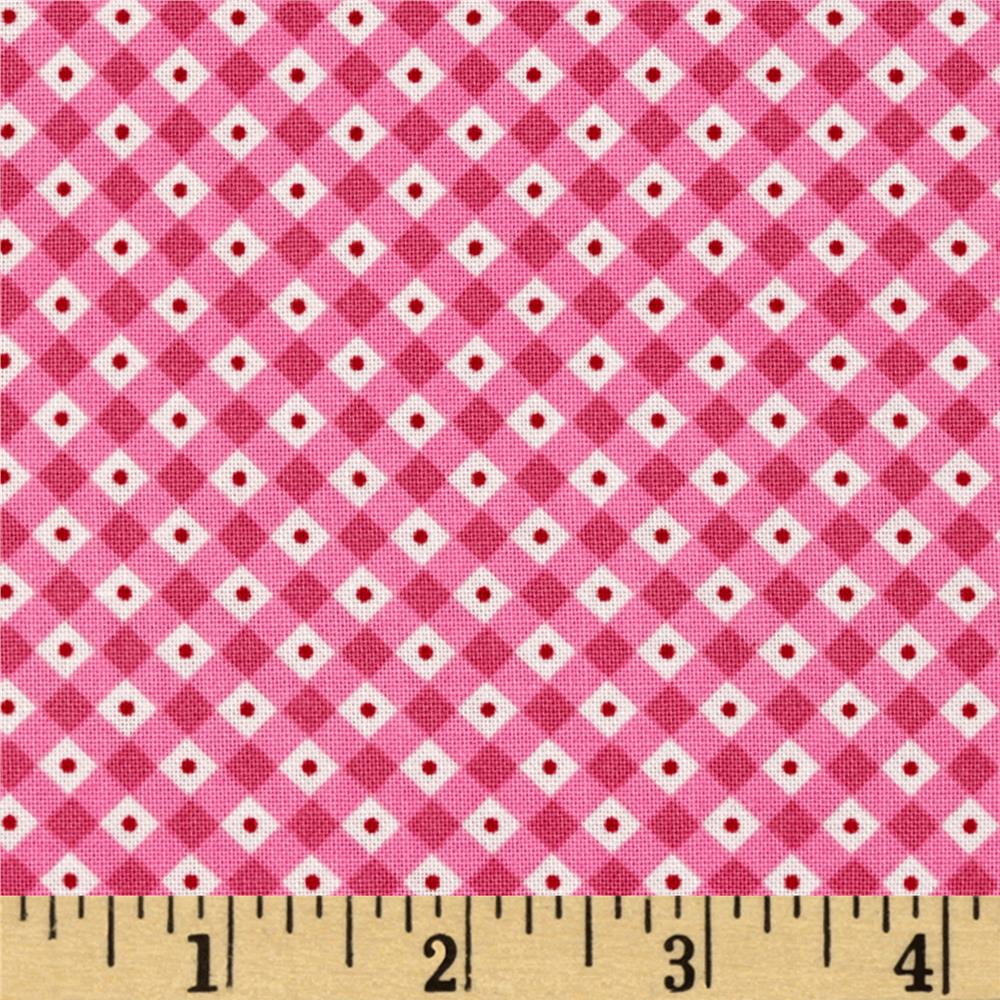 Riley Blake Teddy Bear's Picnic Teddy Gingham Pink