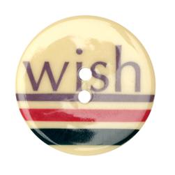 Novelty Button 1-3/8'' Wish Natural